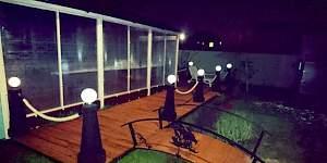 Резиновые столбы с фонарями