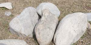 Натуральный камень Валун цветной 300-500 мм